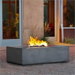 Bowery Hill Natural Gas Fire Table in Glacier Gray