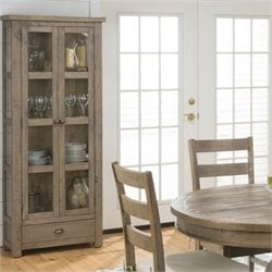 Bowery Hill Kitchen or Dining Room Display Cupboard in Slater Mill Pine