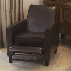 Bowery Hill Leather Recliner Club Chair