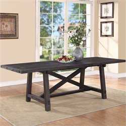 Bowery Hill Rectangular Extension Dining Table in Cafe