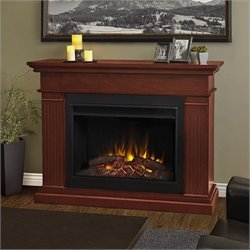 Bowery Hill Electric Grand Fireplace in Dark Espresso