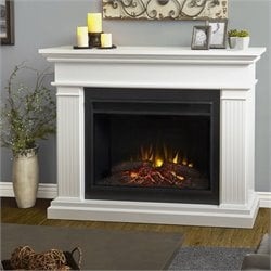 Bowery Hill Electric Grand Fireplace in White
