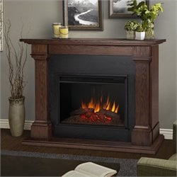 Bowery Hill Grand Electric Fireplace in Chesnut Oak