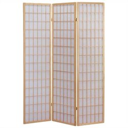 Bowery Hill 3 Panel Wooden Screen in Natural