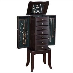 Bowery Hill Jewelry Armoire in Java