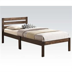 Bowery Hill Twin Bed in Ash Brown