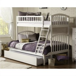 Bowery Hill Bunk Twin over Full with Trundle in White