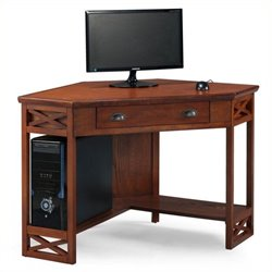 Bowery Hill Corner Computer Desk in Oak