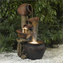 Bowery Hill Outdoor Indoor Fountain with Illumination