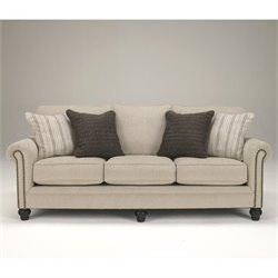 Bowery Hill Signature Design by Microfiber Sofa in Linen
