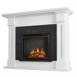 Bowery Hill Electric Fireplace White