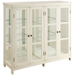 Bowery Hill Accent Display Cabinet in White