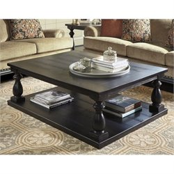Bowery Hill Rectangular Coffee Table in Black