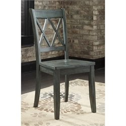 Bowery Hill Dining Chair in Antique Blue and Green