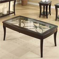 Bowery Hill Rectangular Cocktail Table in Dark Mahogany