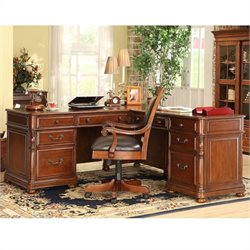 Bowery Hill L-Desk And Return in Cognac Cherry