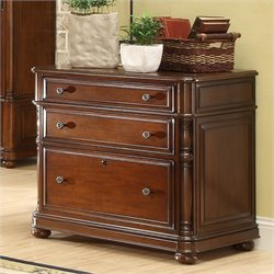 Bowery Hill Lateral File Cabinet in Cognac Cherry