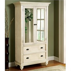 Bowery Hill Two Tone Armoire in Dover White