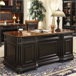Bowery Hill Executive Desk in Rubbed Black
