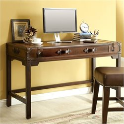 Bowery Hill Suitcase Writing Desk in Aged Cognac Wood