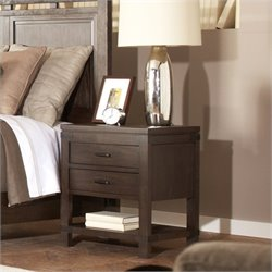 Bowery Hill 2 Drawer Nightstand in Warm Cocoa