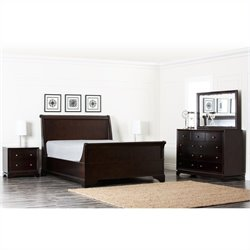 66733 - Queen Bedroom Set in Brown
