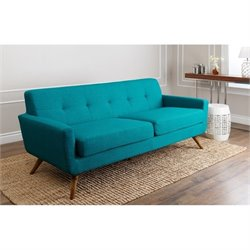 Bowery Hill Fabric Sofa in Blue