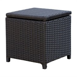 41672 - Outdoor Wicker Storage Ottoman