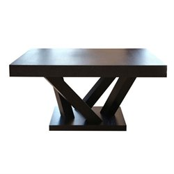 Bowery Hill Wood Square Coffee Table in Espresso