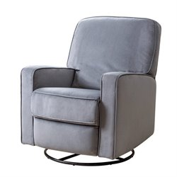 29349 - Fabric Swivel Glider Recliner Chair