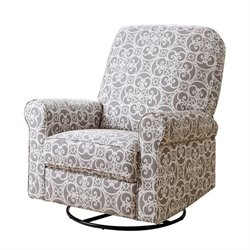 29350 - Fabric Swivel Glider Recliner Chair