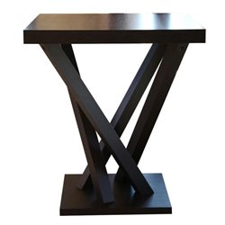 Bowery Hill Wood Square Bar Table in Espresso