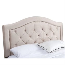 33384 - Tufted Velvet Headboard in Ivory