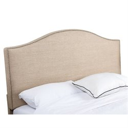 33385 - Linen Upholstered Headboard in Wheat