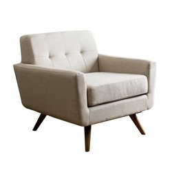 33394 - Tufted Fabric Arm Chair