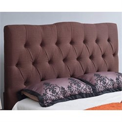 33398 - Linen Upholstered Headboard in Chocolate
