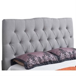 33400 - Linen Upholstered Headboard in Gray