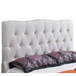 33401 - Linen Upholstered Headboard in Ivory