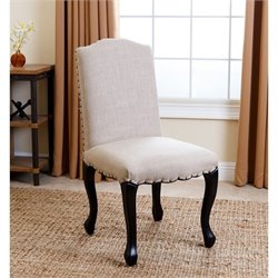 Bowery Hill Upholstered Dining Chair in Natural
