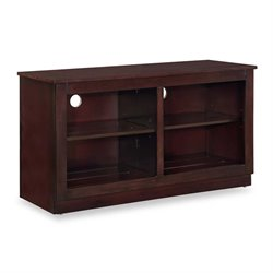 Bowery Hill Folding TV Stand in Cappuccino