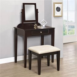 Bowery Hill 2 Piece Vanity Set in Cappuccino