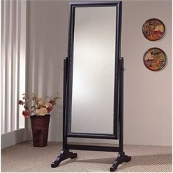 Bowery Hill Grand Cheval Mirror in Black