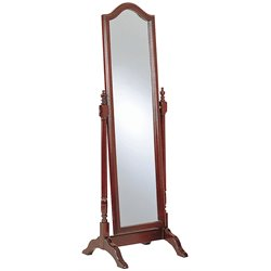 Bowery Hill Cheval Mirror in Mahogany