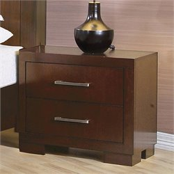Bowery Hill 2 Drawer Nightstand in Light Cappuccino