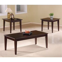 Bowery Hill 3 Piece Coffee Table Set in Cappuccino