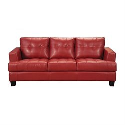 MER-757 Bowery Hill Contemporary Tufted Leather Sofa