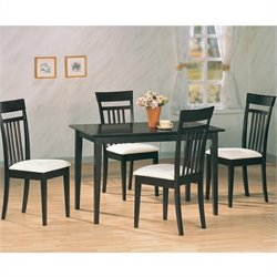 Bowery Hill 5 Piece Dining Set in Cappuccino