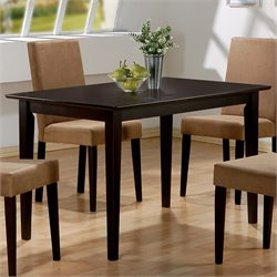 Bowery Hill Casual Dining Table in Cappuccino
