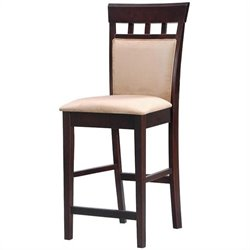 MER-757 Bowery Hill Upholstered Panel Back Stool in Cappuccino