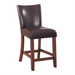 MER-757 Bowery Hill Faux Leather Stool in Brown